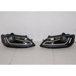 Set Of Headlamps Day Light Volkswagen Jetta 11 Black