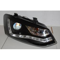 Set Of Headlamps Day Light Volkswagen Polo 2009