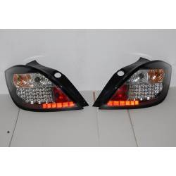Set Of Rear Tail Lights Opel Astra H 2004-2008 5-Door Led Black
