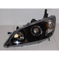 Set Of Headlamps Angel Eyes Honda Civic 2004, 4 Doors, Chromed