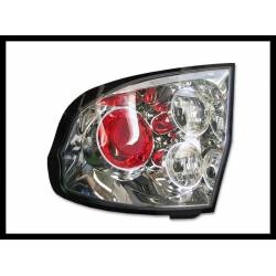 Set Of Rear Tail Lights Hyundai Getz 2005 Lexus Chromed
