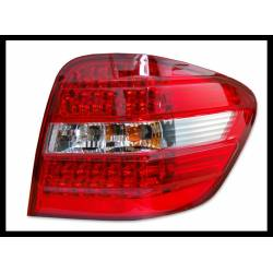 Set Of Rear Tail Lights Mercedes Ml Box W164 2006 Led Chromed/Red