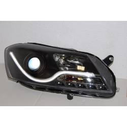 Set Of Headlamps Daylight Volkswagen Passat 2012 Lti Black