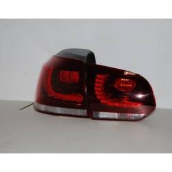 Pilotos Traseros Cardna Volkswagen Golf 6 Led Red Tipo R32 Lightbar