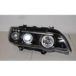 Faros Delanteros Ojos De Angel BMW X5 '01 Black