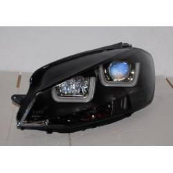 Set Of Headlamps Day Light Volkswagen Golf 7 Black