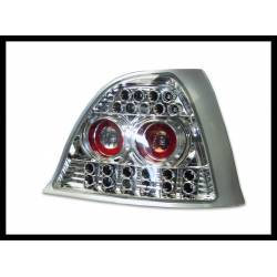 Set Of Rear Tail Lights Rover 200/25 Led Chromed