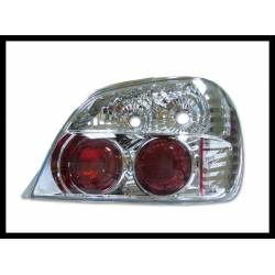 Set Of Rear Tail Lights Subaru Impreza 2001 Lexus Chromed