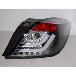 Set Of Rear Tail Lights Cardna Opel Astra H 2004-2008 3 Door Led Black Flashing Led