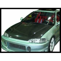 Carbon Fibre Bonnet Honda Civic 1992 4-Door, Without Air Intake