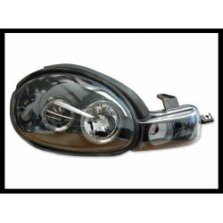 Set Of Headlamps Angel Eyes Chrysler Neon 2000, Black