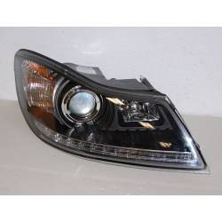 Set Of Headlamps Day Light Skoda Octavia 2009 Black