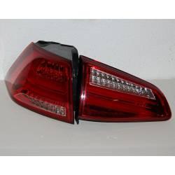 Set Of Rear Tail Lights Volkswagen Golf 7 2013 Led Red Cardna