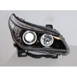 Set Of Headlamps Day Light BMW E60 / E61 2003-2007 Black & Blinker Led
