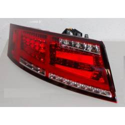 Set Of Rear Tail Lights Audi TT 8J 2006-2014 Led Red Cardna Flashing Dinamic Led