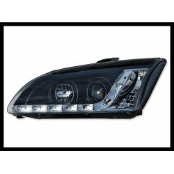 Set Of Headlamps Day Light Ford Focus 2005-2007, Black