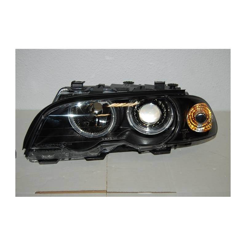 Set Of Headlamps Angel Eyes BMW E46 1998-2001, 2 Doors ...