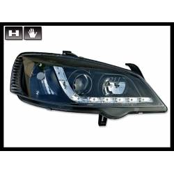 SET OF HEADLAMPS DAY LIGHT OPEL ASTRA G BLACK