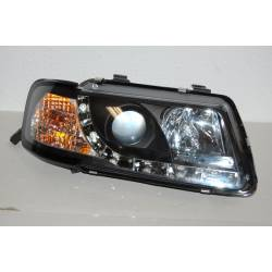 Set Of Headlamps Day Light Audi A3 96-02, Model II, Black