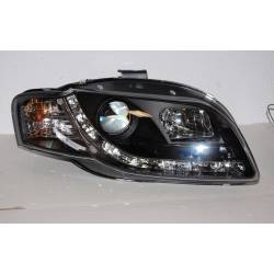 Set Of Headlamps Day Light Audi A4 2005-2008, Black