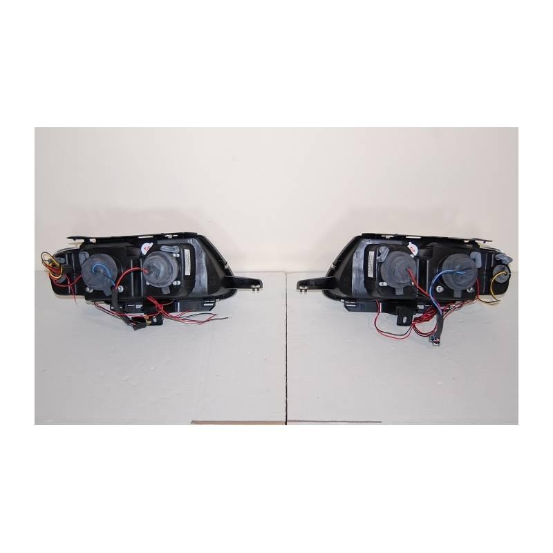Set Of Headlamps Angel Eyes Citroen Saxo Phase I Chromed