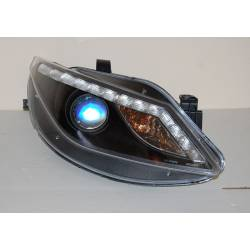 Set Of Headlamps Day Light Seat Ibiza 2009 Black & Blinker Led